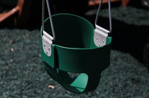 Swing Kingdom Green Rubber Infant Swing