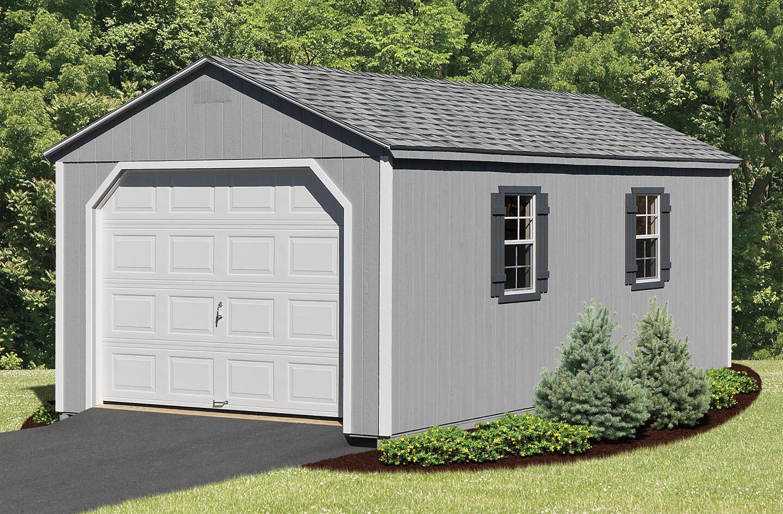 Custom wooden garage in Suffolk NY.